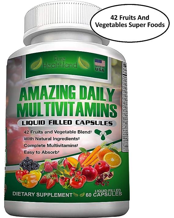 Multivitamínico Natural a Base de Alimentos con una Mezcla de 42 Súper Alimentos a Base de Frutas y Verduras: Amazon.es: Salud y cuidado personal