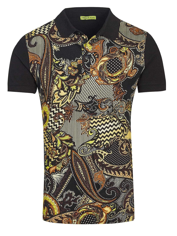 Versace - Polo - para Hombre Negro L: Amazon.es: Ropa y accesorios