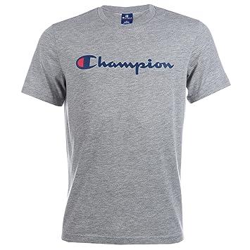 8c5264612c0b Champion Mens Mens Logo T-Shirt in Grey Marl - S: Champion: Amazon ...