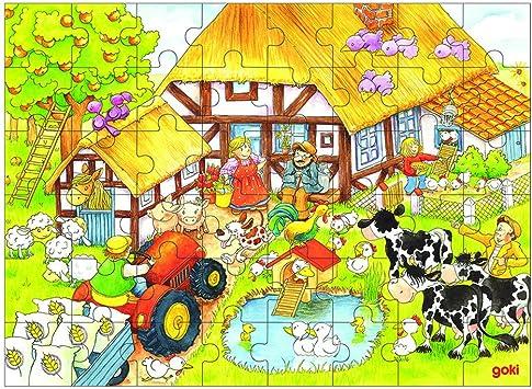 Goki - Puzzle la Granja de Abuelito y Abuelita, 48 Piezas, de ...