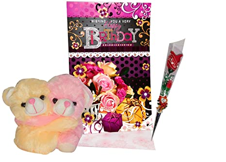 Buy Hug Teddy For Birthday Gifts For Husband Greeting Card Soft