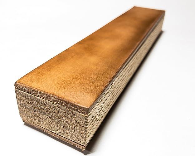 Premium Strop Block 3 5x11 Buffalo Leather Best Kitchen