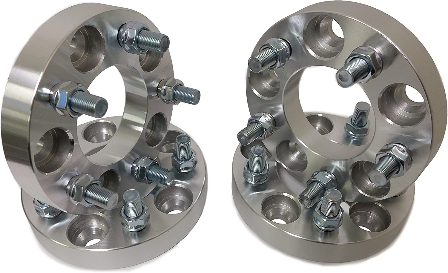 1.25 inch Set of 2-12x1.5 Studs Wheel Adapters 5x4.5 to 5x4.75 Set of 2