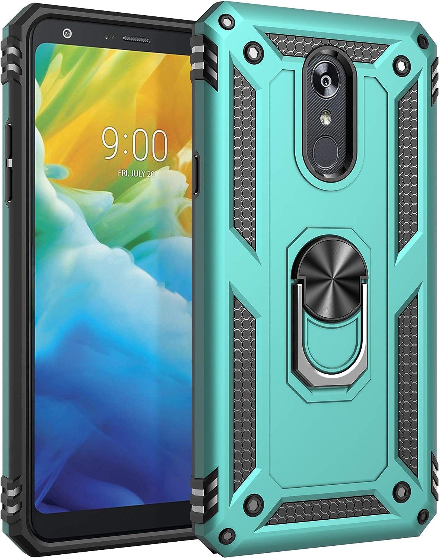 Sfmn Military Case for LG Stylo 5 Case Ultralight, Magnetic, Ring, Military Anti-Fall for LG Stylo 5 Phone Cover (Azure)