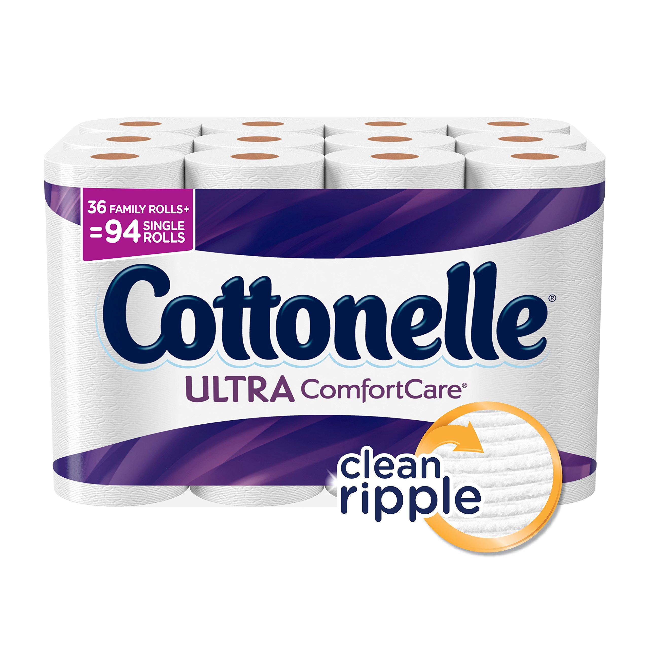 Cottonelle Ultra Comfort Family Roll Toilet Paper, Bath Tissue, 36 Toilet Paper Rolls