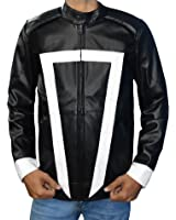 Agents Of Shield Season 4 Black Leather Jacket - Ghost Rider Jacket