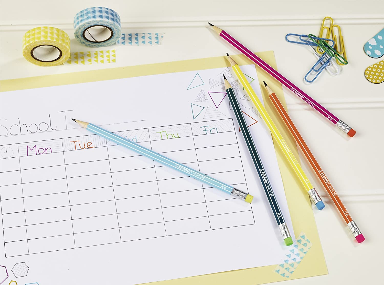 colore Confezione da 3 Stabilo 160/matita in grafite HB con gomma blu