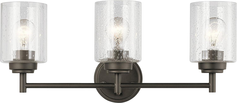 Kichler 45886NI Winslow Vanity, 3-Light 225 Total Watts, Brushed Nickel - -