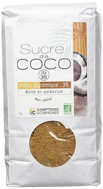 Comptoirs Et Compagnies Sachet Sucre De Fleur De Coco Bio 1 Kg
