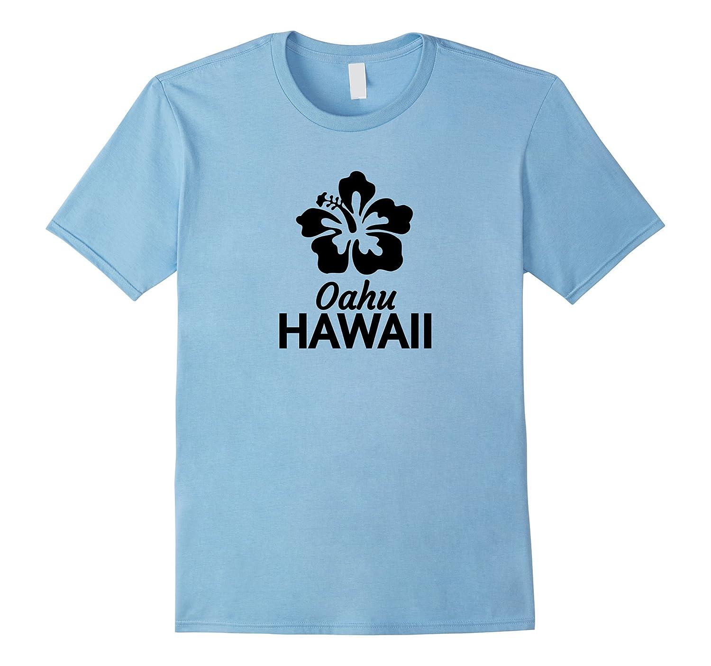Oahu Hawaii T Shirt With Hawaiian Hibiscus Flower Td Teedep