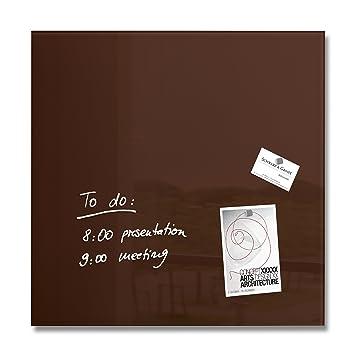 Sigel Gl112 Glas Magnetboard Magnettafel Artverum Mocca Braun 48
