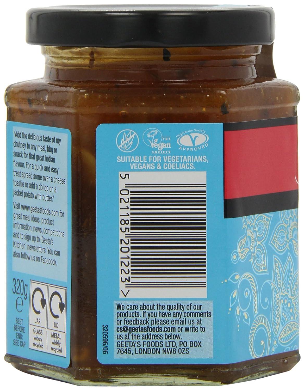 Amazon.com : Geeta\'s Mango Chutney 320 g (Pack of 6) : Grocery ...