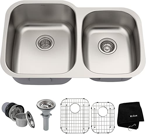 Kraus KBU24 Stainless Steel Kitchen Sink