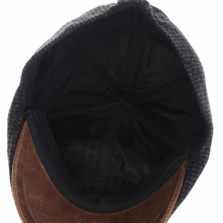 b9adb5495f33a Descripción del producto. WITHMOONS Winter Tweed Houndstooth Newsboy Hat  Faux Leather Brim Flat Cap