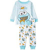 Sesame Street Cookie Monster Baby Boys 2 Piece Sleepwear Pajama Set