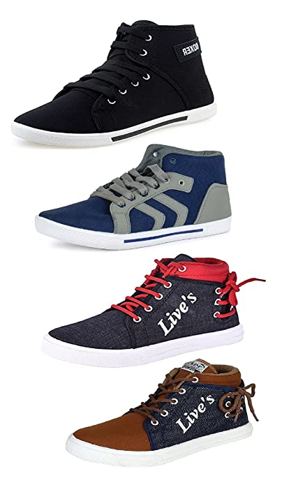 beb1b282a Tempo Men s Combo Pack of 4 Sneakers Shoes  Buy Online at Low Prices ...