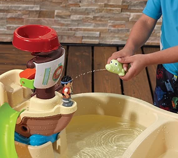 Amazon.com: Step2 High Seas Adventure Sand Toys and Water Table with ...