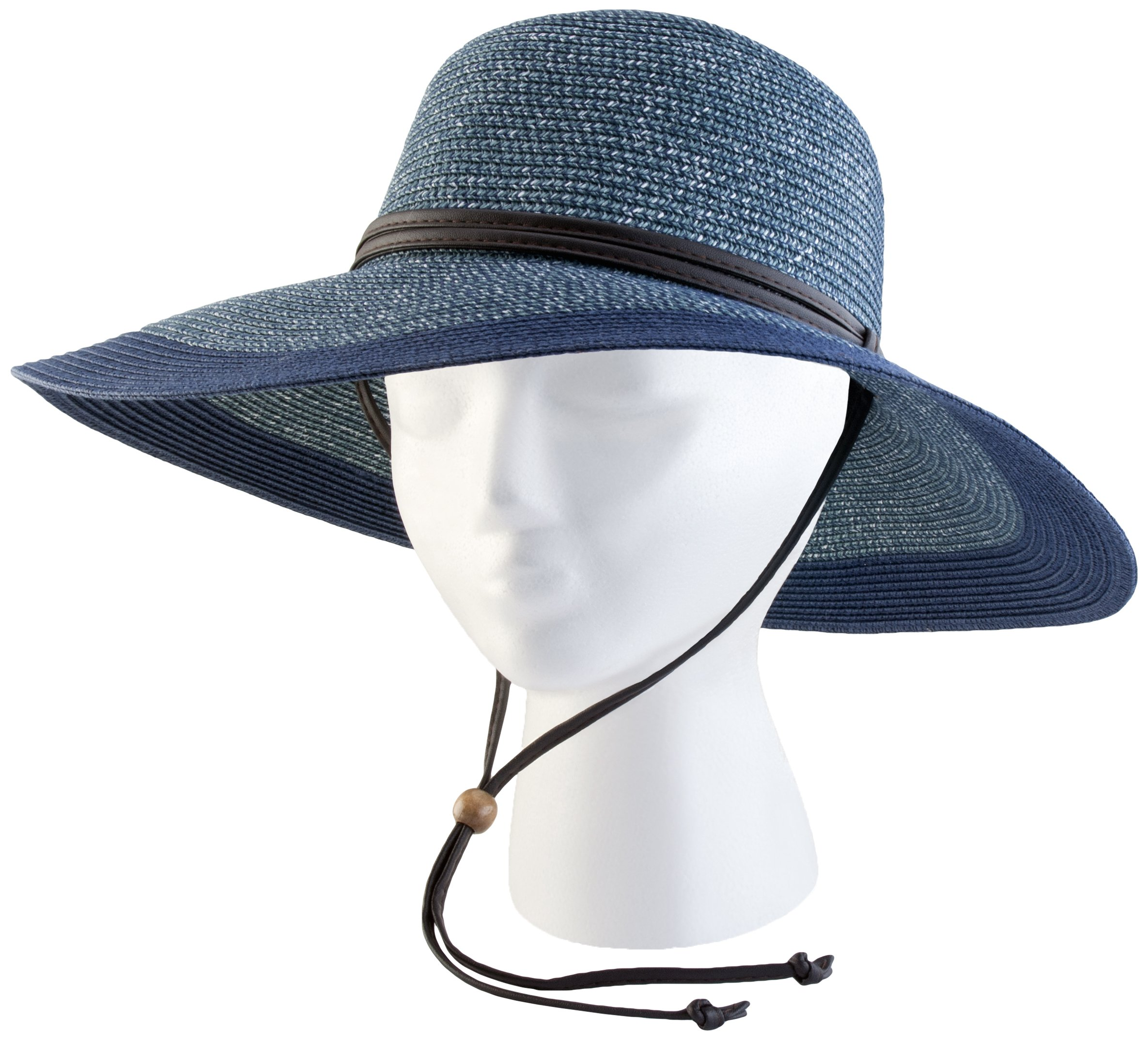 Sloggers Braided Wide Hat, Grey Blue, UPF 50+  Maximum Sun Protection, Style 4404BL