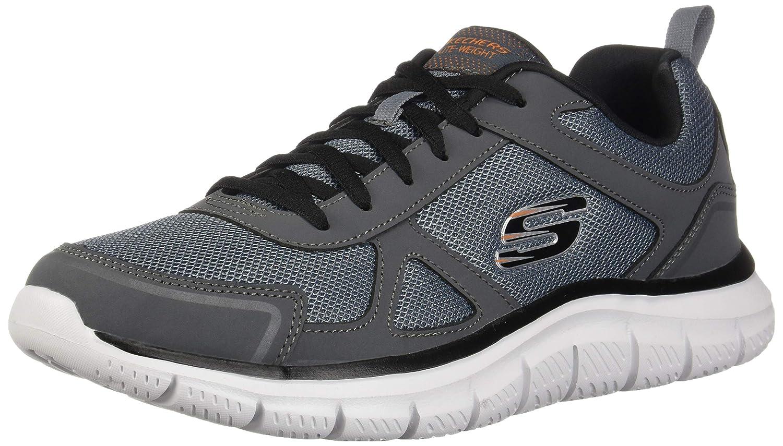 Charcoal noir Ccbk 43 EU Skechers Track-scloric 52631-bbk, paniers Basses Homme