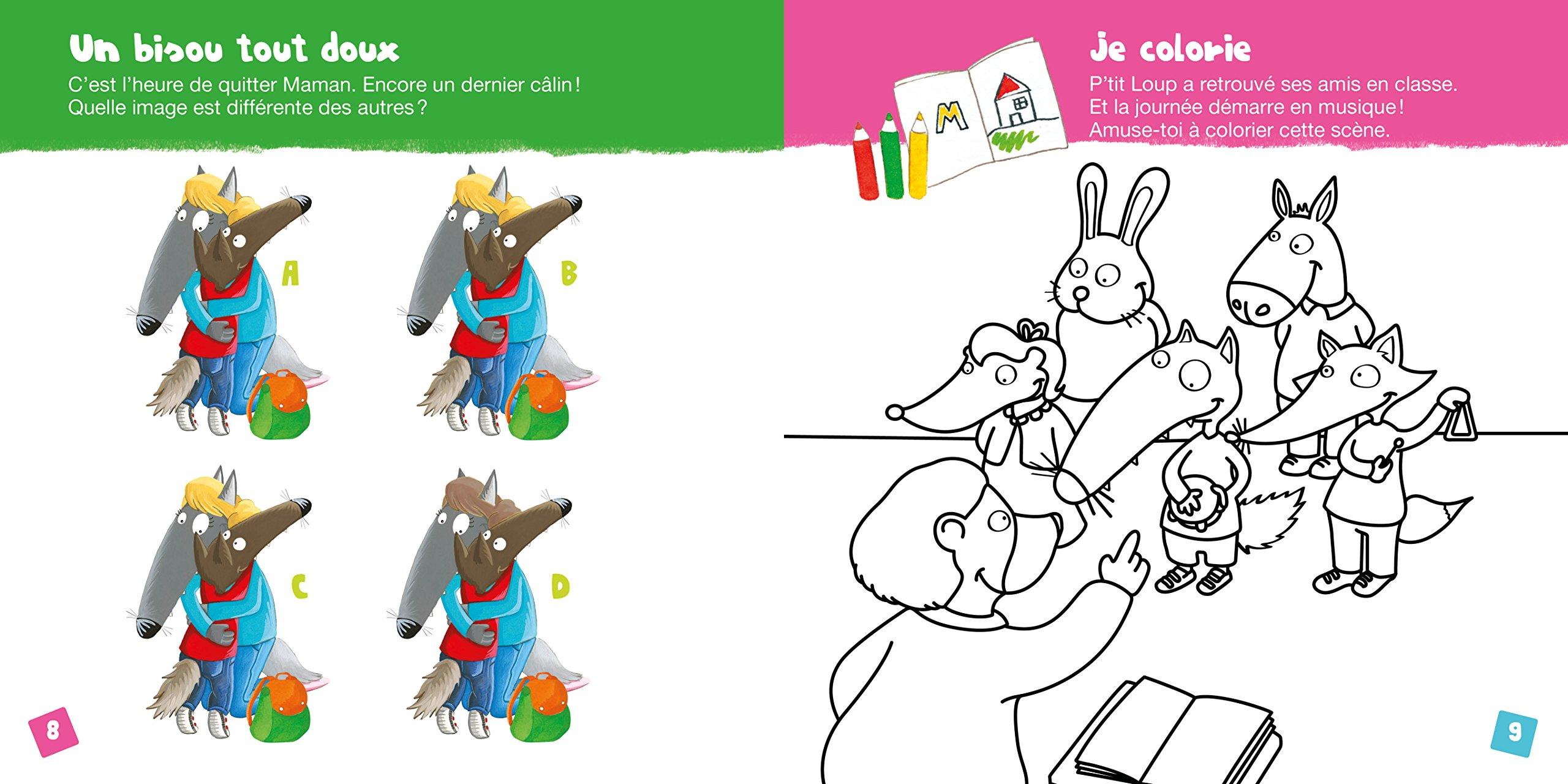 Mon cahier d'activités p'tit loup   à l'école French Edition ...