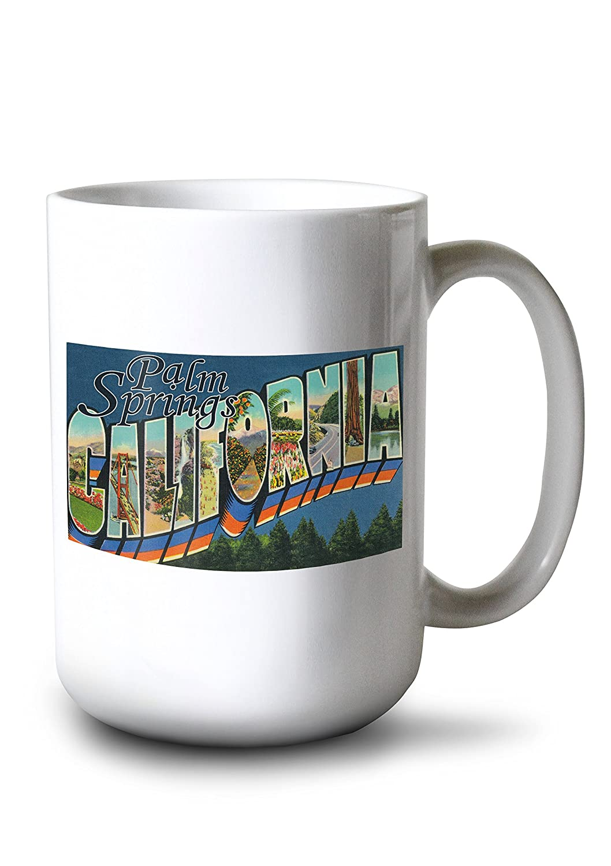 Greetings fromパームスプリングス、カリフォルニア Canvas Greetings Canvas Tote Bag LANT-7386-TT Mug B077RTSNG7 15oz Mug 15oz Mug, My shoes:89242938 --- itxassou.fr