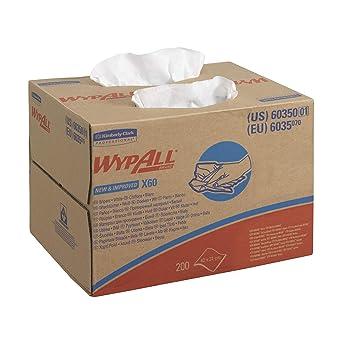 Paños WYPALL* X60 6035: 1 caja BRAG* Box x 200 paños blancos ...