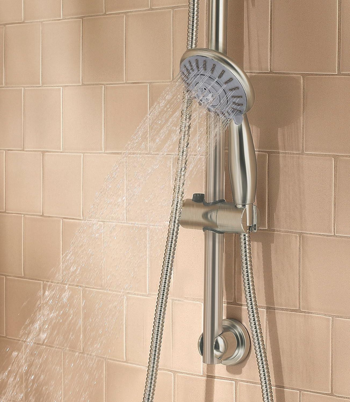 adjustable bar heads hand wall handshower held bn with isola bathroom shower mount slide head