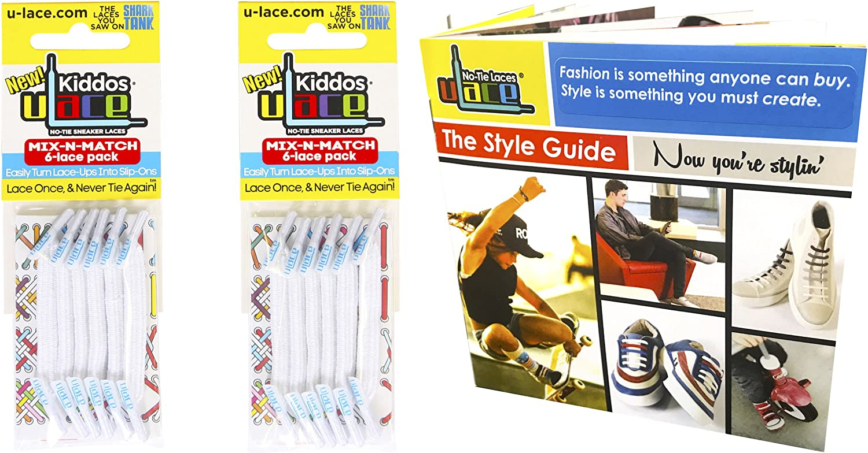 U-Lace Kiddos Original Fabric Style No-Tie Lace Bundles - 2 Packs & Style Guide