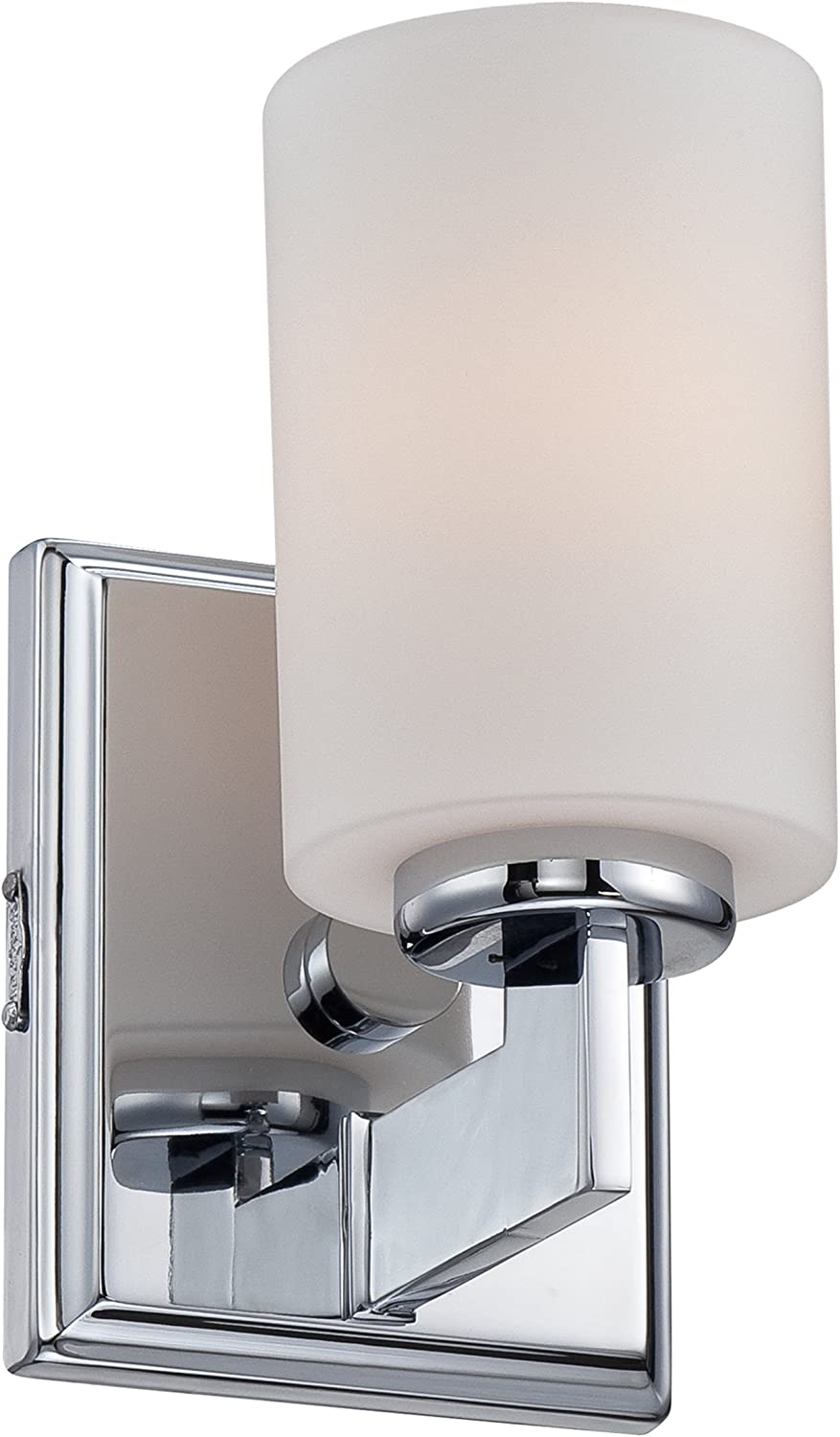 Quoizel TY8601C Taylor Bath Wall Sconce Lighting, 1-Light, 100 Watt, Polished Chrome 8 H x 5 W