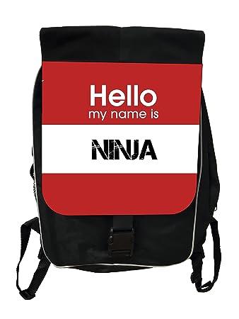 Amazon.com: Hello, My Name Is Ninja – niñas negro mochila ...