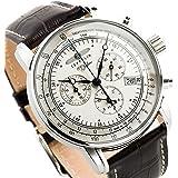 [ツェッペリン] ZEPPELIN 腕時計 7680-1 100周年記念 クォーツ 42MM レザーベルト [並行輸入品]