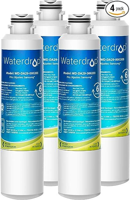 HAF-CIN//EXP FilterLogic Replacement Refrigerator Water Filter Compatible with Samsung DA29-00020B DA29-00020A White 2 Pack 46-9101