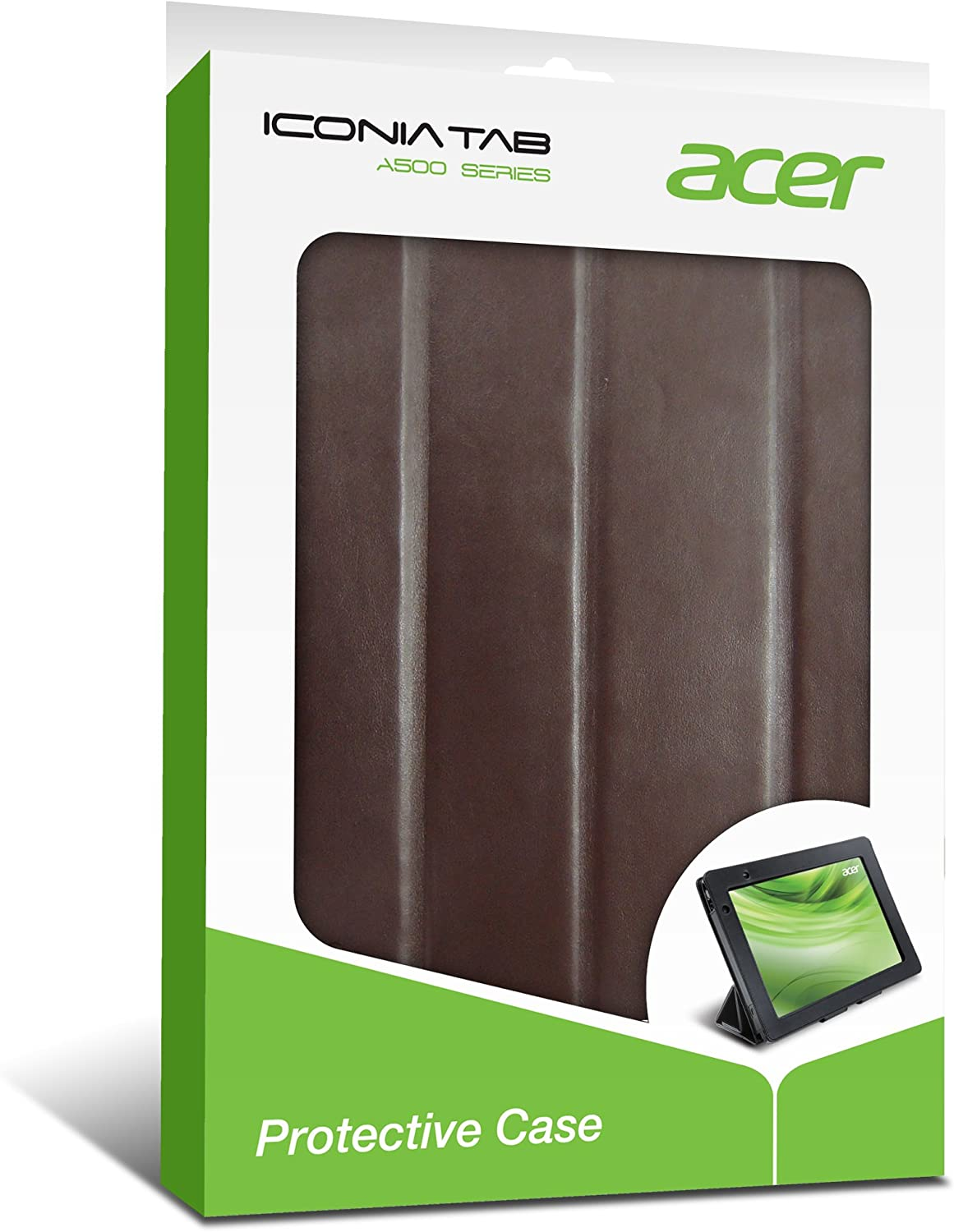 Acer Iconia Foldable Protective Case for Tablet - Brown (A500C02C)