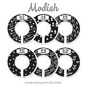 Modish Labels Baby Nursery Closet Dividers, Closet Organizers, Nursery Decor, Gender Neutral, Baby Boy, Baby Girl, Tribal, Arrows, Triangles, Boho Geometric, Nordic, Black, White (Black)