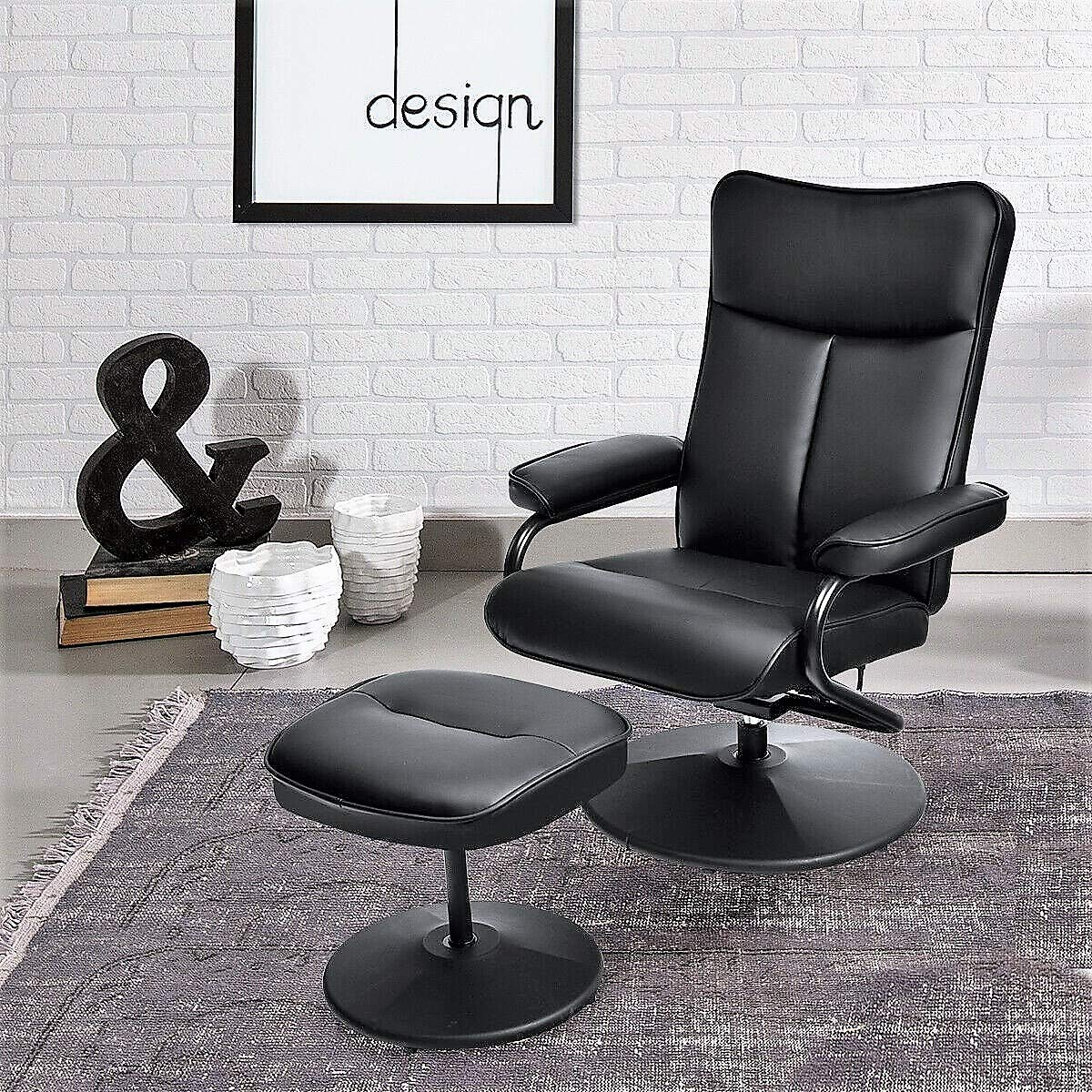 Amazon.com: Lucky-gift - PVC Leather Recliner Chair Lounge ...