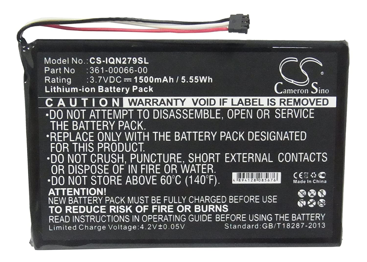 1500mAh Replacement Battery for Garmin NuviCam LM,NuviCam LMTHD
