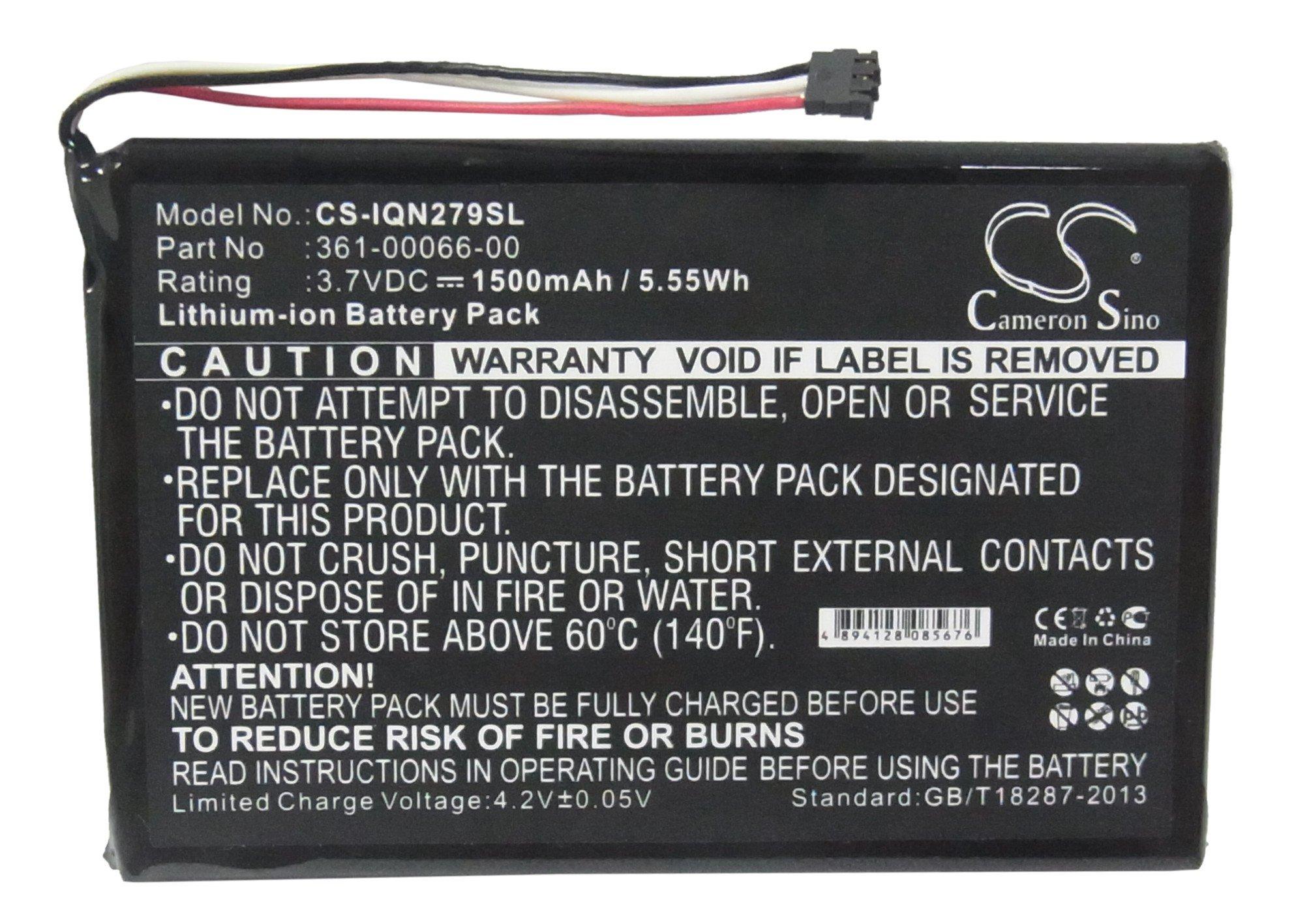 Replacement Battery for Garmin 361-00066-00, Fit Garmin Nuvi 2797,Nuvi 2757,3.70V,1500mAh,Li-ion by Cameron Sino (Image #1)