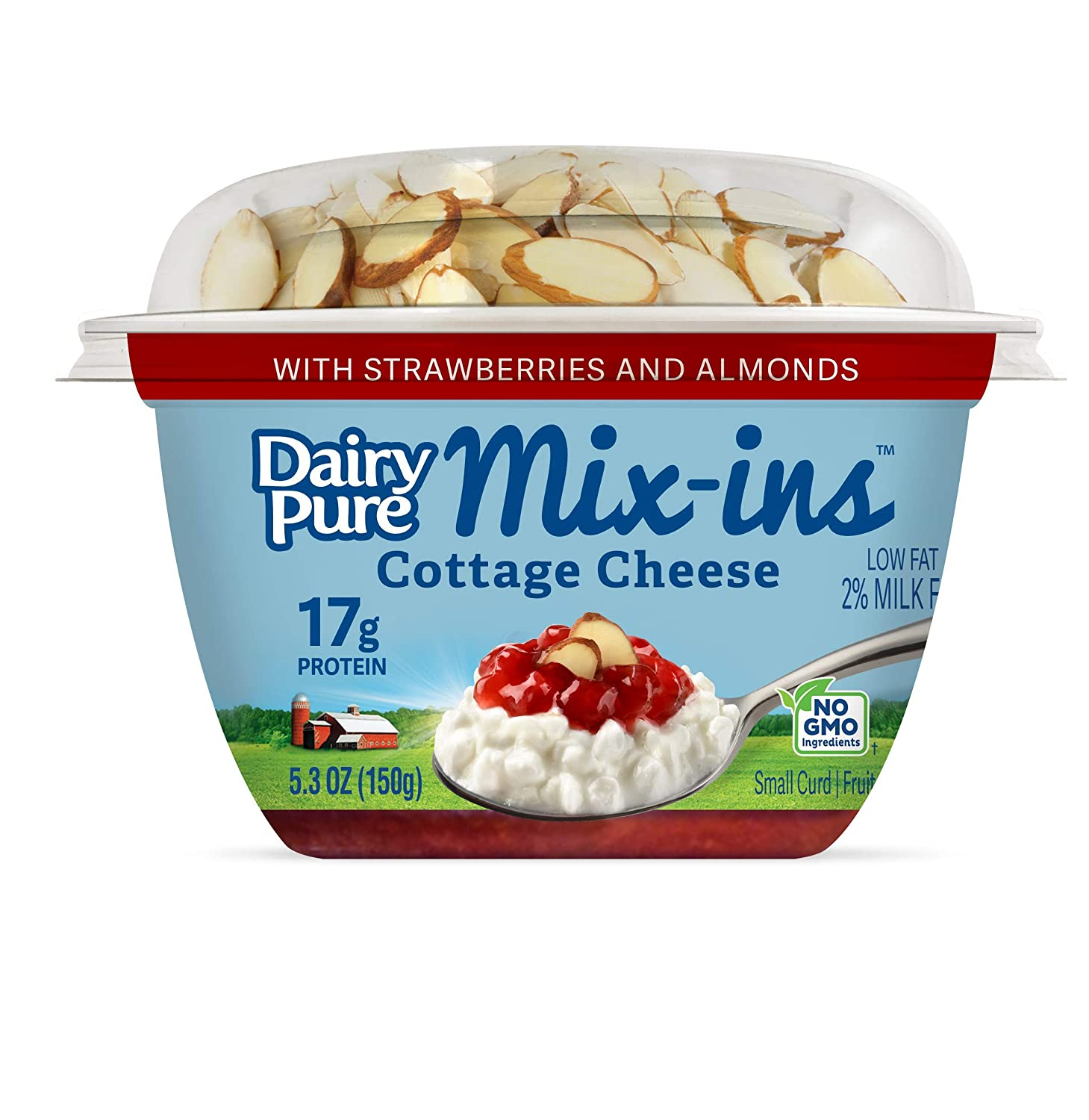 Brilliant Dairypure Mix Ins Low Fat Cottage Cheese With Strawberries And Almonds 5 3 Oz Cup Download Free Architecture Designs Scobabritishbridgeorg