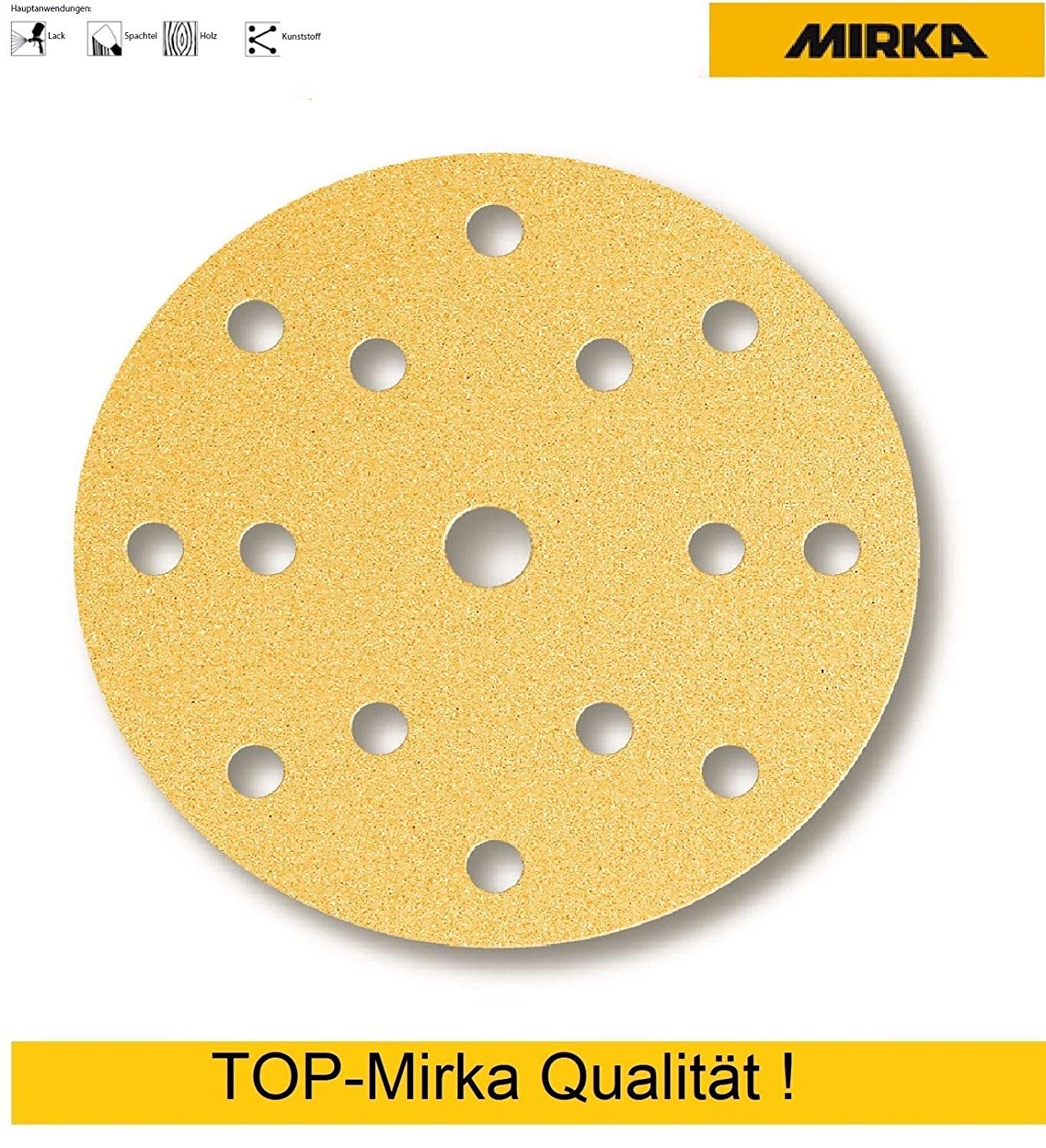 25 Pieces Abracs 150mm x 180g 6 Holes Hook and Loop Disc