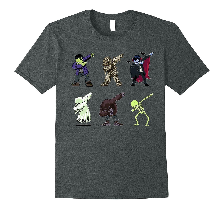82ba4ca8 Dabbing Skeleton Shirt Halloween Monsters Dracula Ghost Kids-TJ ...