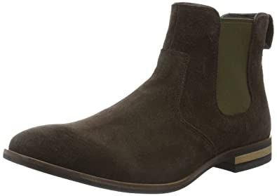 Rockport Men's Birch Lake Ankle Boots, Brown (Dark Bitter Chocolate Suede),  10.5