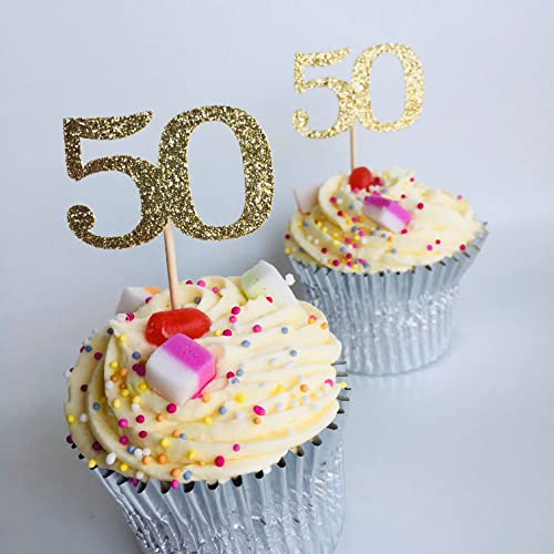 12 X Any Age Cupcake Topper Personalised Age Number 30th 40th