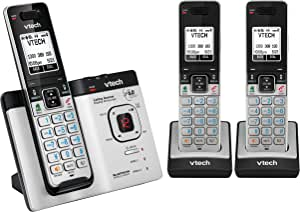 VTech CLS15752 Triple Dect 6.0 Cordless Phone with Bluetooth Mobile Connect, Silver/Black