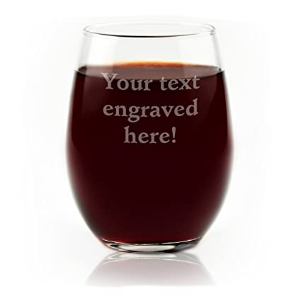 4c790f81522 Amazon.com | Personalized Stemless Wine Glass Engraved with Your ...
