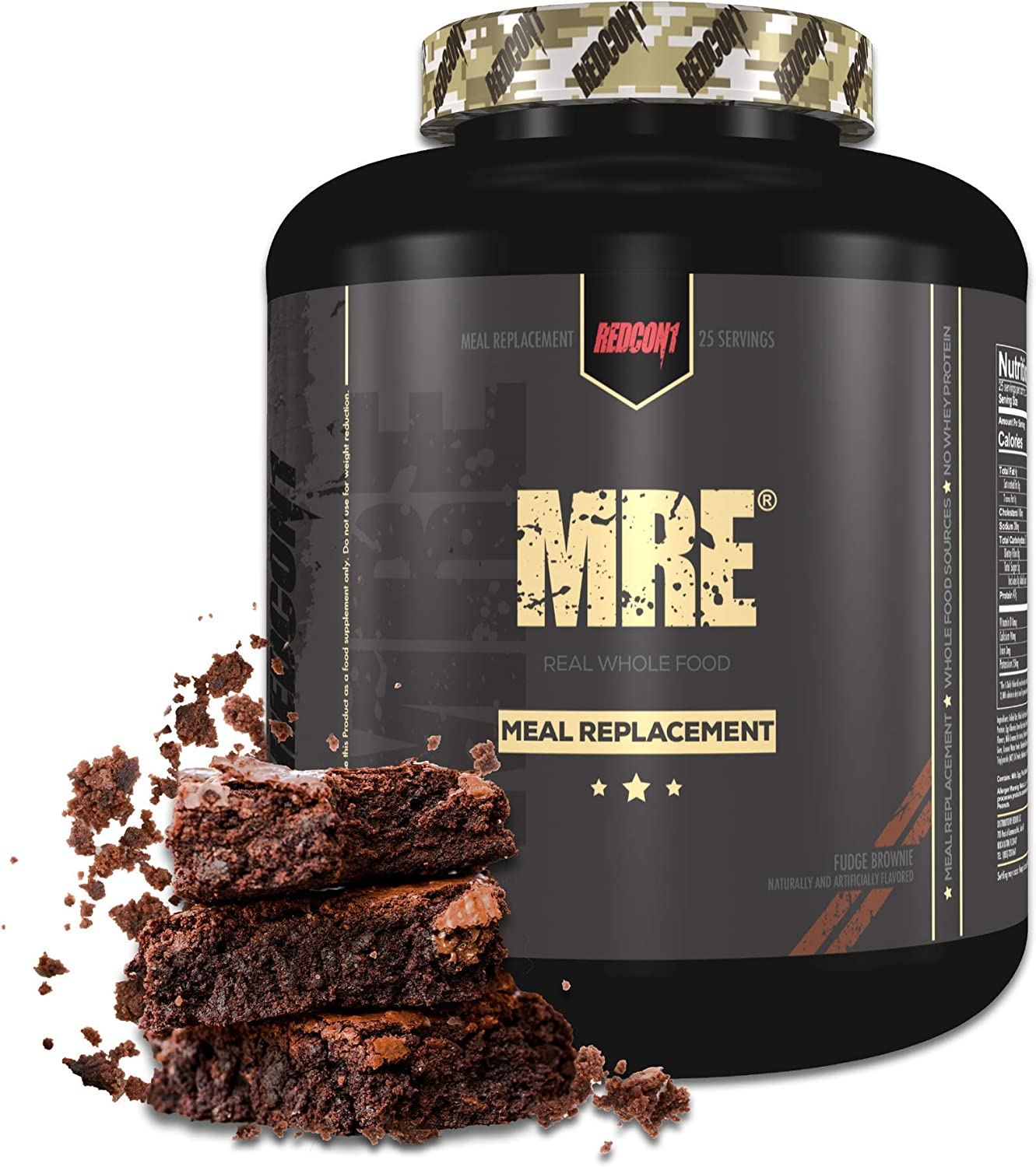 Redcon1 MRE, Meal Replacement Protein 7.15 Pound (Fudge Brownie)