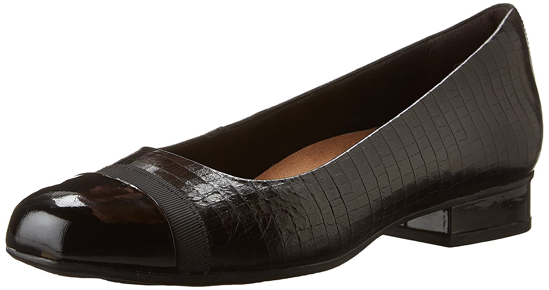 CLARKS Women's Keesha Rosa Dress Pump B019K6TTG0 12 N US|Black Crocodile Leather