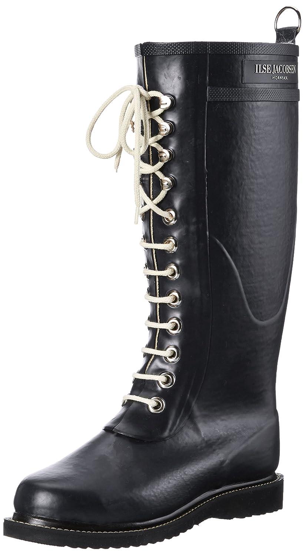 ILSE JACOBSEN Women's Rub 1 Rain Boot B003L774J4 38 EU (US Women's 8 M)|Black