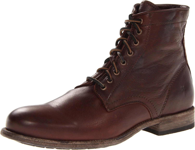 Dark braun Soft Vintage Leather - 86070 FRYE Men& 039;s Tyler Lace-Up Stiefel