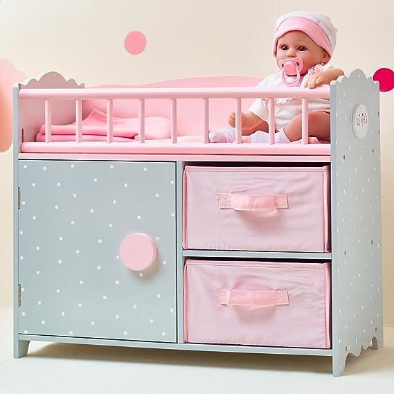 Image of Olivia's Little World- Habitación de bebé para muñeca, Color Rosa/Gris (Teamson TD-12390A)