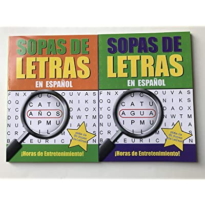 Latest Version Sopas De Letras Spanish Word Search Puzzle Book and Pen, Última versión Sopas De Letras Spanish Word Search Puzzle Book and Pen: Toys & Games